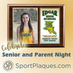 Does your school have a tradition of acknowledging senior student athletes and their parents? Having a senior/parent night is a great way of recognizing and thanking these students and their parents (we know how much background and sideline support you give) for the vitality and commitment they give to the school community. #seniornight #parentnight #schoolcommunity #highschoolsports Award Plaques, Senior Student, Parent Night, Sports Awards, Recognition Awards, School Community, Home Sport, National Championship, Team Photos
