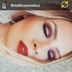 RG @meltcosmetics: @desimakeup is so beautiful it's insane! Wearing the DARK MATTER stack on her eyes @anastasiabeverlyhills American doll on her lips #meltcosmetics #meltdarkmatter #regramapp