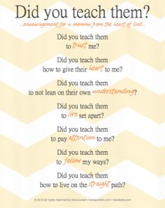 Did You Teach Them? - The Better Mom
