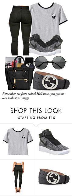 """Untitled #272"" by cieramonet ❤ liked on Polyvore featuring Chicnova Fashion, NIKE and Gucci"