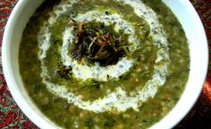 Ash-e Jo - Barley Stew with Beans and Herbs - Barley is an ancient grain with an obscure origin. However, as old as barley is, it has never gotten to be a popular grain for cooking. Raw Food Recipes, Soup Recipes, Cooking Recipes, Garlic Recipes, Dessert Recipes, Iran Food, Iranian Cuisine, Barley Soup, Kitchens