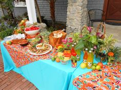 SImple pretty Mexican appetizer buffet