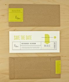 If you did do a ticket for Save the Date, this envelope is nice!!