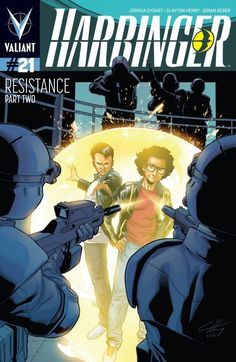 Harbinger (2012- ) #21: Once again, the Renegades are on the run with the combined forces of the Harbinger Foundation and Project Rising Spirit closing in on all sides. This time, however, the team's newest member, Ax, has left a trail of leaked classified information that could could win the day -- but also put the few loved ones they have into dire peril. And now the moment has come when they must choose between their fate and their families...
