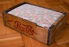 soda crate dog bed @Brenda Hayes