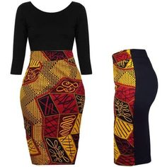 The streamlined pencil skirt will always be a classic wear of all ages. Make sure you have enough of them in your wardrobe for the instant chic looks both for the party and formal occasions. African Wear Dresses, Latest African Fashion Dresses, African Attire, Pencil Dress Outfit, Pencil Skirt Outfits, Pencil Skirts, Pencil Dresses, Yellow Pencil Skirt, Printed Pencil Skirt