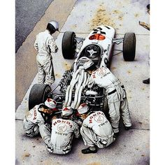 """ayegurl: """" The Pride and The Passion By Simon Owen Richie Ginther stands beside the 1966 Honda in preparation for the Italian Grand Prix at Monza. Nascar, Soichiro Honda, Italian Grand Prix, Classic Race Cars, Auto Retro, Honda Motors, Formula 1 Car, Old Race Cars, Vintage Race Car"""