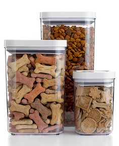 Keep Treats and Dog Food Handy with OXO Food Storage POP Containers - Kitchen Gadgets - Dog Accesories, Pet Accessories, Baby Dogs, Pet Dogs, Pets, Doggies, Pet Food Storage, Dog Rooms, Dry Dog Food