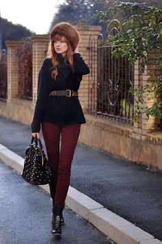 Love the belted coat