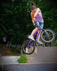 Girl BMX rider. Bicycles Love Girls. http://bicycleslovegirls.tumblr.com/