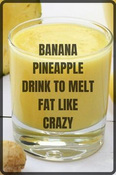 Pineapple Banana Smoothie, Pineapple Diet, Pineapple Drinks, Banana Drinks, Pineapple Water Recipe, Detox Drink Before Bed, Drinks Before Bed, Fat Burning Smoothies, Fat Burning Detox Drinks