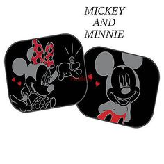 Disney Mickey and Minnie Mouse Black Kids Baby Children Car Window Sun  Shades 16 Window Sun 7876517ed35
