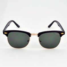Clubmaster Sunglasses $6    These browline sunglasses are affordable and look great with a variety of styles! These clubmaster style sunglasses have a plastic and metal frame with 100% UV protection.