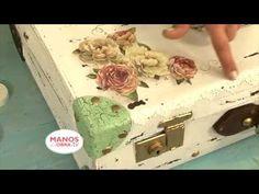 Reciclar Valijas Vintage - Estilo Shabby - Craquelado - Martha Cacacio - YouTube