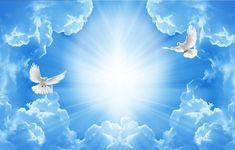 Beautiful Love, Beautiful Flowers, Tarpaulin Design, Heaven Images, Peace Pictures, Heaven Painting, Heaven Tattoos, Funeral Poems, Spiritual Images