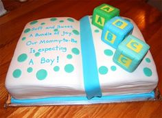 storybook cakes | Leelees Cake-abilities: Storybook and Block Baby Shower Cake