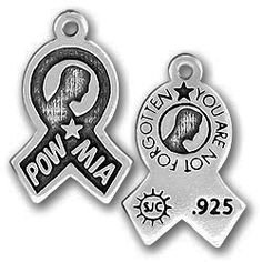 Lead Free Pewter POW/MIA Ribbon Charm