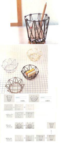 手工 铝线制作收纳篮