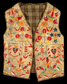 Credit: Digital Public Library of America Dakota quillwork leather vest (1890-1899), Minnesota Historical Society. Part of the Minnesota Digital Library's exhibition, A History of Survivance: 19th century Upper Midwest Native American Resources in the DPLA