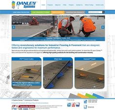 Danley Construction Products updated website.  Specialists in Industrial flooring & pavement. Leading manufacturer and supplier of products for slab on ground concrete construction within Australia & NZ concrete & construction markets.