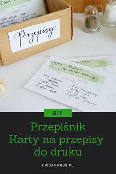 DIY Przepiśnik Karty na przepisy do druku Printable recipe cards