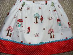 Riley Blake Little Red Riding Hood Skirt  12 mos by wickedcutekidz, $16.00