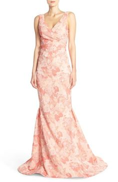 Pamella, Pamella Roland Graphic Jacquard Mermaid Gown available at #Nordstrom