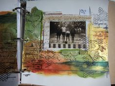 Adjoining journal page with Silks acrylics