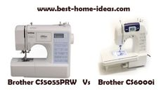 Brother CS5055PRW Vs CS6000i : A comparison between two extremely popular sewing machines. See who wins.