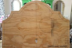 How to Make an Upholstered Headboard- DIY Tutorial Upolstered Headboard, Diy Fabric Headboard, Diy King Headboard, How To Make Headboard, Headboard Designs, Headboards For Beds, Diy Upholstered Headboard, Mantel Headboard, Headboard Ideas