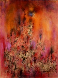 Norman Lewis (July 23, 1909 – August 27, 1979)  Countless Upward, 1959 (oil and ink on paper)