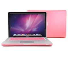 GMYLE® Pink Frosted-see-through Hard Shell Snap On Case Skin for Aluminum Unibody 13 Inches Macbook Pro with Silicone PinkProtective Keyboard Cover by GMYLE, http://www.amazon.com/dp/B005N57X20/ref=cm_sw_r_pi_dp_Pla0qb1WYYZS6