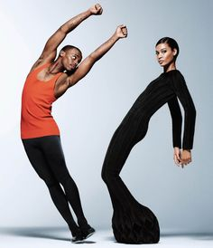 Joan Smalls & Lil Buck in WSJ The Innovator Issue November 2014. Photographed by Daniel Jackson and Styled by George Cortina