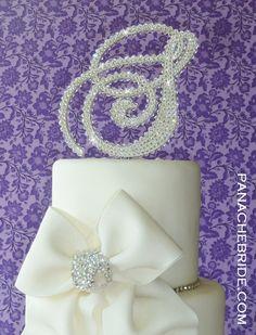 Monogram cake topper  ENTIRELY COVERED Swarovski by panachebride, $224.50