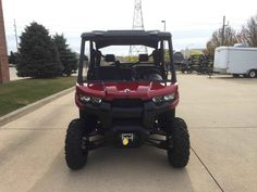 """New 2017 Can-Am Defender MAX XTâ""""¢ HD10 ATVs For Sale in Iowa. The Defender MAX XT comes equipped with many factory-installed accessories including 27 in. (68.6 cm) Maxxis Bighorn 2.0 tires mounted on 14 in. (35.6 cm) wheels and Dynamic Power Steering for better handling and steering."""