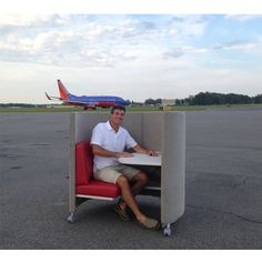 Sales Rep Tom Whitermore enjoys a break in The POD after a long day's work http://www.agati.com/pod-workstation/