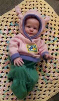 Glow Worm Halloween costume for my baby 2012 made by my awesome mom!