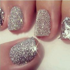 Glitter nails - great for a party.