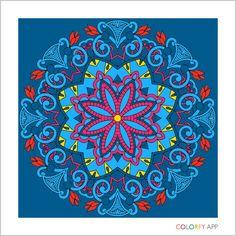 Mandala #colorfy free blue day