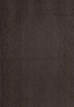 Looks like snakeskin! South Dakota in Java from @Schumacher — Fabric Wallcovering Trimming Furnishing. Fall 2012 Luxe Lodge Collection. #fabric #snakeskin #brown