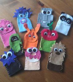 Moshi monster finger puppets!