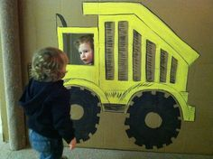 Dump Truck Photo Prop for a Construction Party - #kidsparty #partyidea