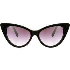Asos Velvet Cat Eye Sunglasses ($21) ❤ liked on Polyvore