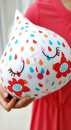 TUTORIAL: Sew a super-cute raindrop with our FREE softie pattern
