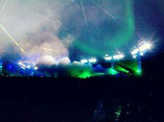Roskilde Festival 14 - Light dancing on smoke
