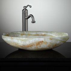 Ceres Green Onyx Vessel Sink $441