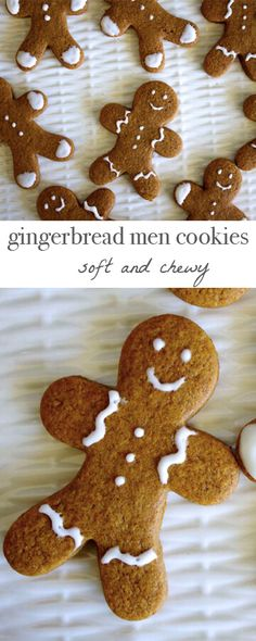 Soft and chewy, delicious gingerbread men cookies! Chewy Gingerbread Men Recipe, Soft Gingerbread Cookies, Holiday Cookies, Gingerbread Houses, Gingerbread Recipes, Christmas Cooking, Christmas Desserts, Christmas Treats, Ginger Bread Cookies Recipe