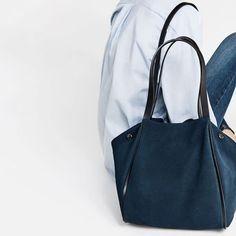 Zara 100% Leather Tote Bag