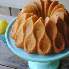 I love my Crown bundt. It just makes everything so much prettier. Isn't it  gorgeous? You just can't go wrong with bundt cake. And this recipe is the  best. It tastes wonderful, with or with out the fresh fruit and whip cream.  It also tastes good with coffee. I would know since I ate it for breakfast  this morning.
