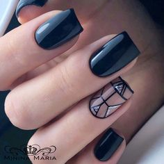 Black nails for winter; black nails with glitter; classy blac… Black nails for winter; black nails with. Black Nails With Glitter, Black Nail Art, White Nails, Black Nails Short, Glitter Nails, Glitter Toms, Glitter Letters, Black Nail Designs, Colorful Nail Designs